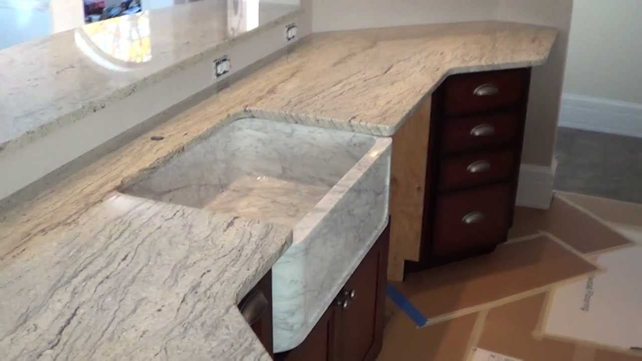 Ordinaire Custom Made In Maine Snow Valley White Granite Countertop And Marble Sink  Installed   YouTube