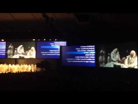 Shofar blowing & Intl Rosh Hashanah Kabbalah Center 2012
