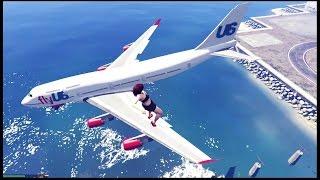 GTA 5 - Você já viu um avião parado no ar ? Vídeo zoeiro e doidão para os fãs do canal !