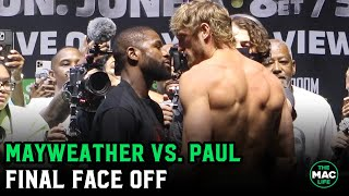 Floyd Mayweather vs. Logan Paul Final Face Off