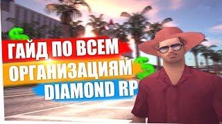 гАЙД ПО ВСЕМ ОРГАНИЗАЦИЯМ DIAMOND RP