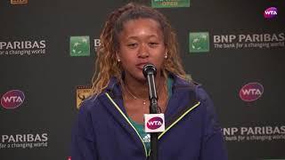 2018 Indian Wells press conference: Naomi Osaka on her win against Maria Sharapova
