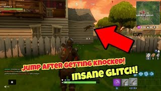 Fortnite battle Royale glitch (New) Jump after getting knocked PS4/Xbox one 2018