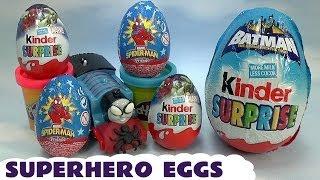 play doh thomas friends kids spider man surprise eggs marvel superhero egg captain america batman
