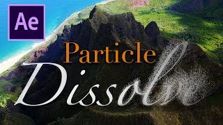 Text Particle Dissolve - After Effects Tutorial (No Plugin)