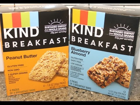 KIND Breakfast Bars: Peanut Butter &Blueberry Almond Review