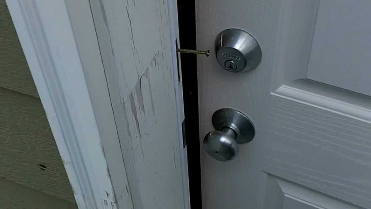 How to secure and reinforce a door - Part 1 - YouTube