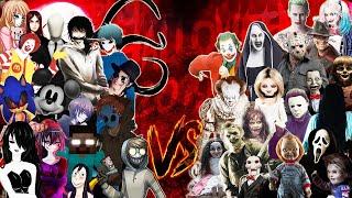 IT SAW CHUCKY JOKERS VS. JEFF SLENDER HEROBRINE ZALGO SONIC RAP ║ (Especial Halloween BONUS)