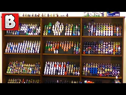 Biggest Lego Minifigure Collections!!! 1000+ figs! Building Custom Lego Displays