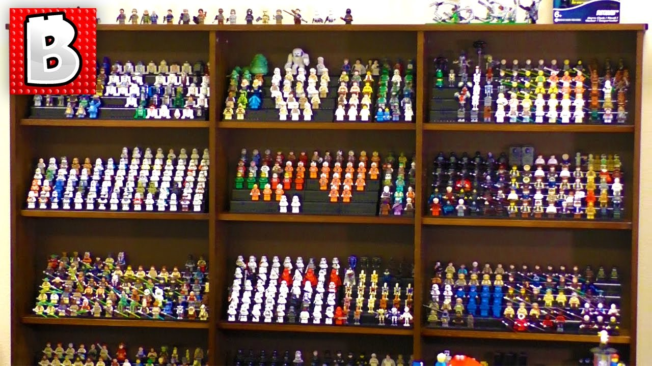 Biggest Lego Minifigure Collections!!! 1000+ figs! Building Custom ...