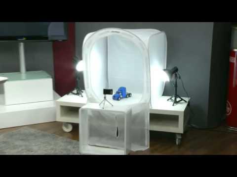 somikon mega fotostudio bundle 80x80x80cm youtube. Black Bedroom Furniture Sets. Home Design Ideas