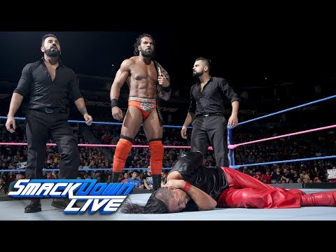 Jinder Mahal executes a sneak attack on Shinsuke Nakamura: SmackDown LIVE, Oct. 3, 2017