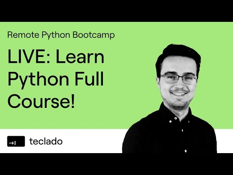 Live Python Bootcamp: Learn Python from Scratch, LIVE! thumbnail