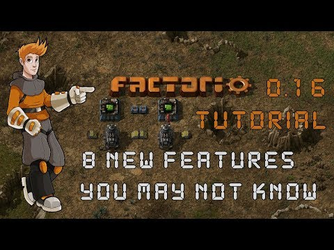 Factorio 0.16 Tutorial - 8 New Features, Tips & Tricks You May Not Know