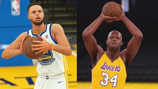 Can Stephen Curry Make a Full Court Shot Before Shaq Makes a Three Pointer? NBA 2K18 Challenge