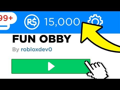 SECRET OBBY GIVES 15,000 FREE ROBUX (September 2020) thumbnail