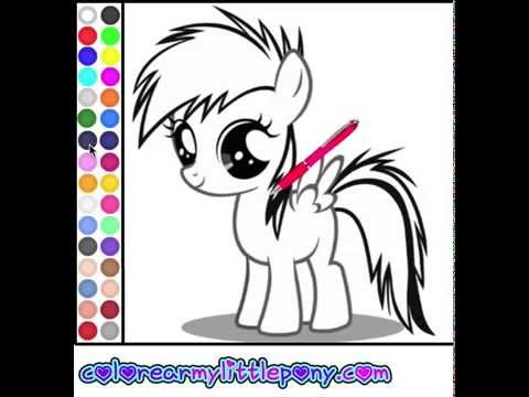Juego: Colorear Baby My Little Pony - YouTube