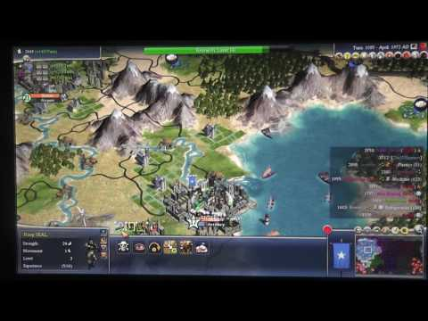Civilization IV Part 26 (w/ Dad) - Julius Caesar War (3) - Battle for New York