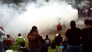2008 Scion XB burnout at the 2009 Corpus Christi Texas Heat Wave Car Show