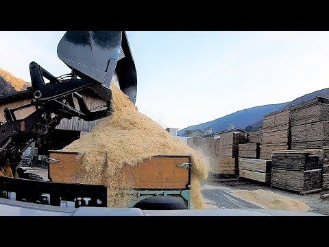 👨🌾Agrarwirtschaft in den Bergen 🏔 :Let´s drive: Sägemehl transport mit MF 5445 🚜