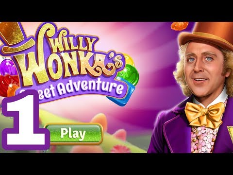WONKA'S WORLD OF CANDY Android / IOS Gameplay Walkthrough Part 1 | Match 3 Decorating Game