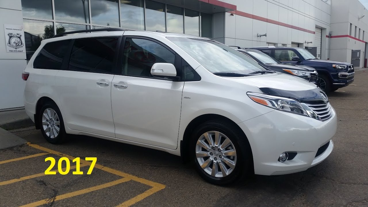 2017 Toyota Sienna Limited Premium AWD Detailed feature ...