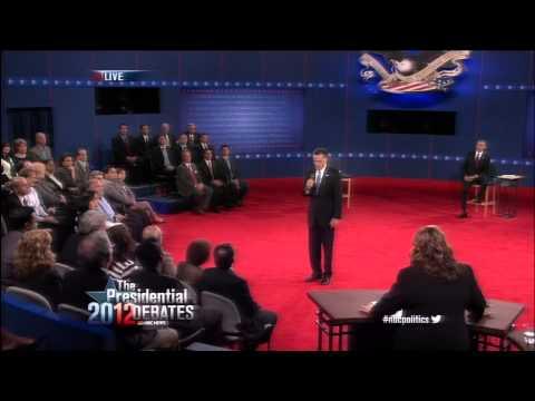 Obama and Romney Debate Libya Terrorist Attack in Benghazi (2012 Presidential Debate #2)