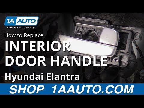 How to Replace Interior Door Handle 07-10 Hyundai Elantra