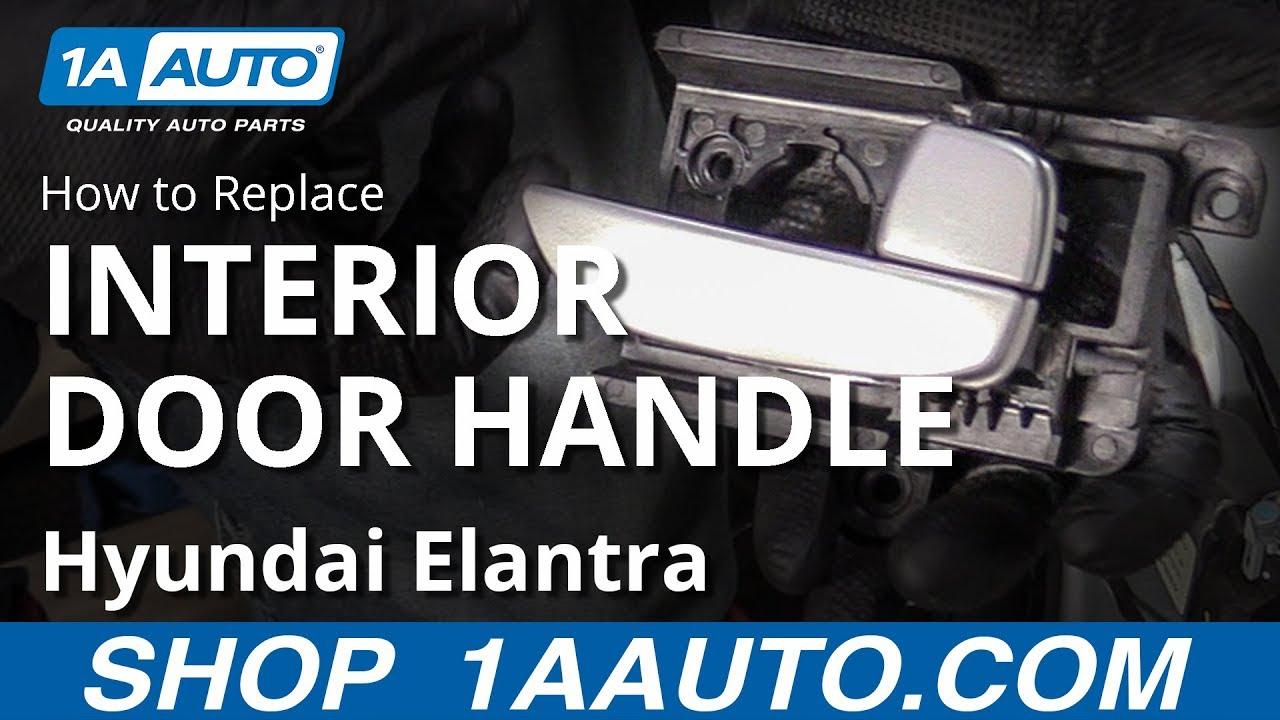 How To Replace Interior Door Handle 07 10 Hyundai Elantra Youtube