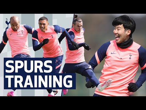 SHOOTING DRILLS AT HOTSPUR WAY | Everton v Spurs | Premier League