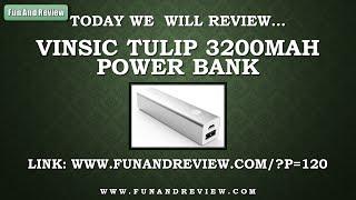 V deo-Review Vinsic Tulip 3200mAh Power Bank English