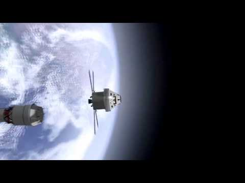NASA Launch Animation of Space Launch System and Orion spacecraft