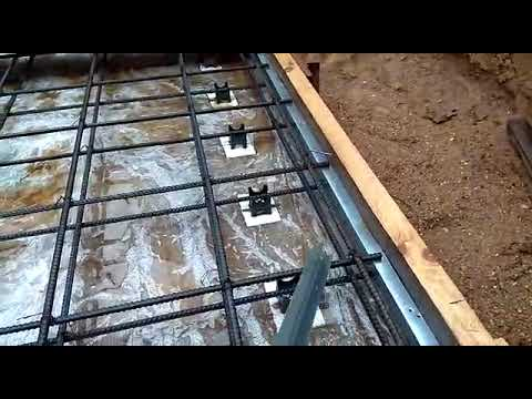 Монолитный бетонный септик. Часть 1. Дно-плита