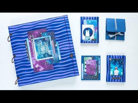 Скрапбукинг. Обзор одного космического заказа: альбом для фото, обложки на паспорт и ...