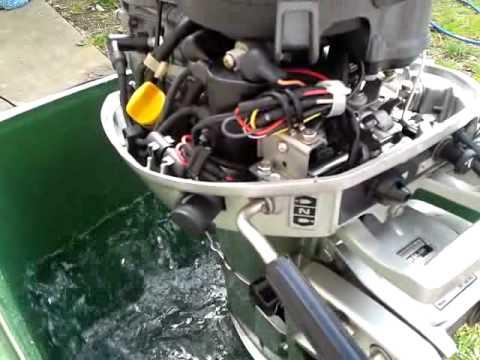 hartlepool Honda 6hp outboard motor test run - YouTube