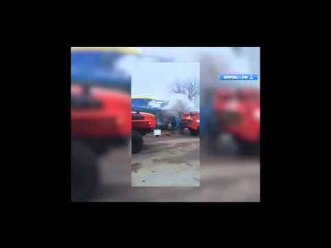 Загорелся автобус в Муроме видео Муром24.рф