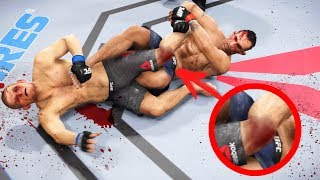 Download СЛОМАЛ НОГУ Хабиба за Тони Фергюсона с помощью иманари ролл в UFC 3 Mp3 and Videos