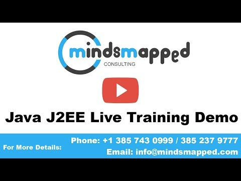 Java J2EE Training Live Demo Video by MindsMapped (Trainer Aatika)
