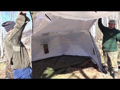 """Как мы обустроили лагерь на Вахте памяти Жилье в лесу палатка """"Берег"""" Гексагон  // Юрий Гагарин"""