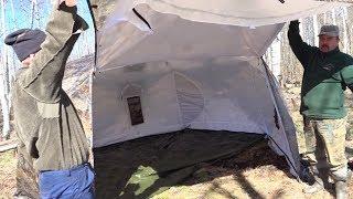 """Как мы обустроили лагерь на Вахте памяти Жилье в лесу палатка """"Берег"""" Гексагон"""