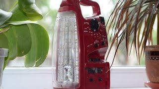 Переделка на светодиодное освещение китайского фонаря с радио SUNCA(Как переделать фонарик на светодиоды с сохранением работоспособности радио и магнитофона. Новая жизнь..., 2015-05-31T12:30:44.000Z)