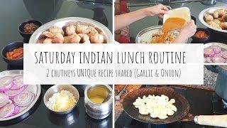A Saturday Special Lunch Routine | Indian Vegetarian Dal Bati Recipe