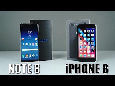 iPhone 8 Plus vs Samsung Galaxy Note 8 - Który wybrać?