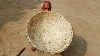 Perfect Artistry Of 80 Years Old Grandpa - Bamboo Basket Making - Blameless Handicraft