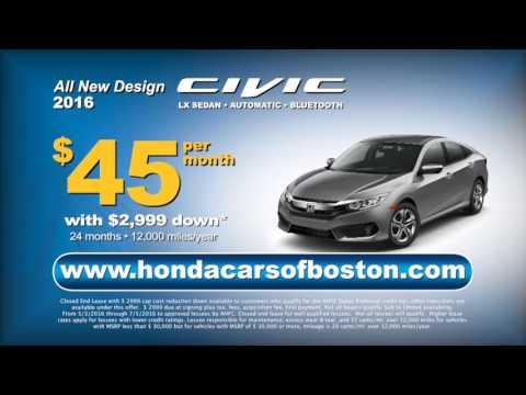 4th Of July Specials At Honda Cars Of Boston