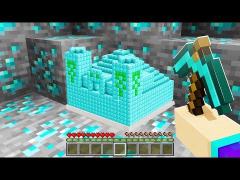 Minecraft MAIS les minerais sont des structures ! (trop cheaté !)