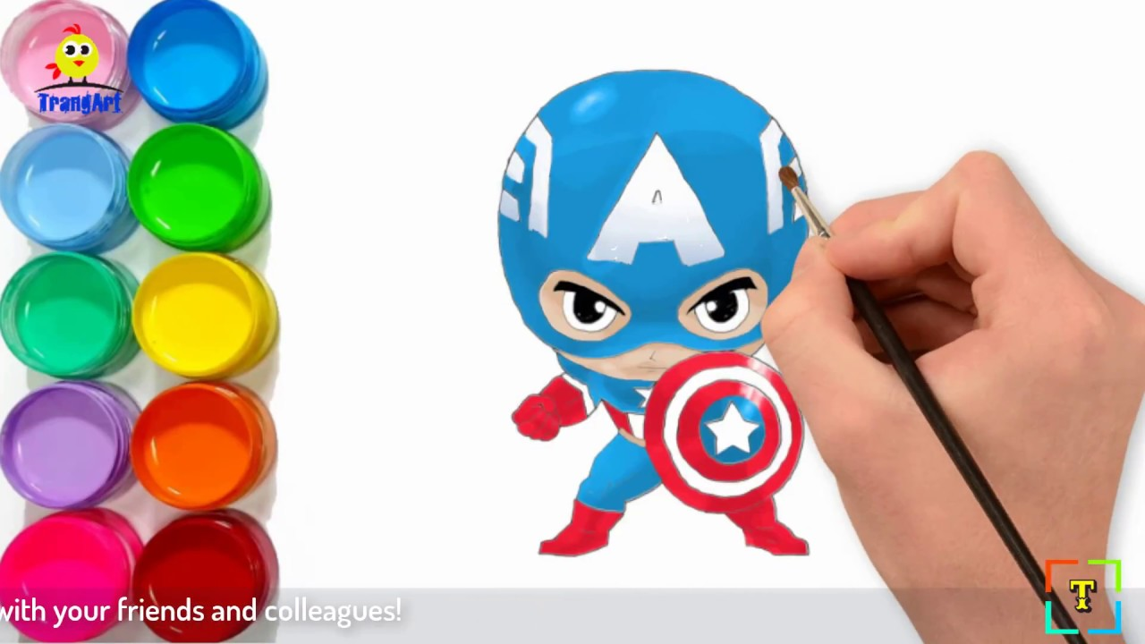 How to draw CAPTAIN AMERICA CHIBI