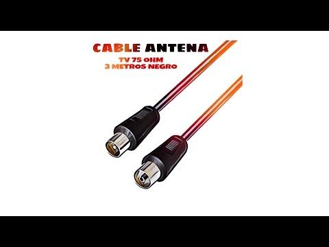 Video de Cable antena de TV de 75 Ohm 2.5 M Negro