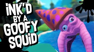 SQUID SQUIRTS INK IN MY FACE  - Crazy Fishing Gameplay (VR HTC Vive)