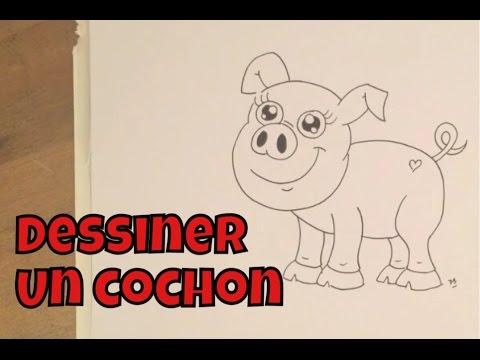 Comment dessiner un cochon facile tape par tape youtube - Cochon a dessiner ...